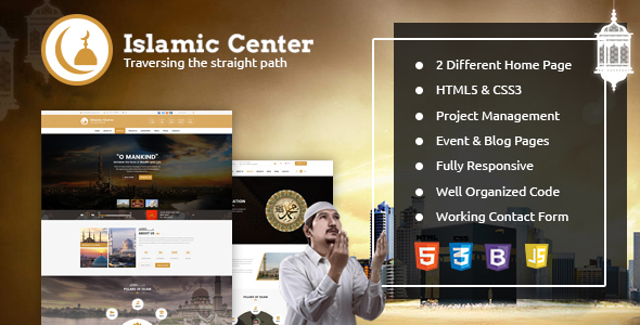 Islamic Center Responsive HTML Template - Nonprofit Site Templates
