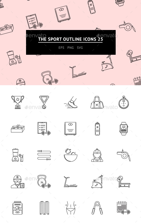 The Sport Outline Icons 25 - Web Icons