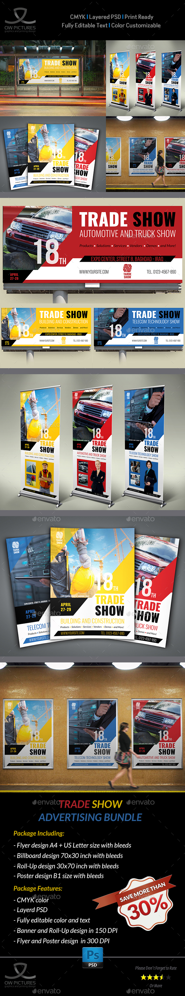 Trade Show Advertising Bundle - Signage Print Templates
