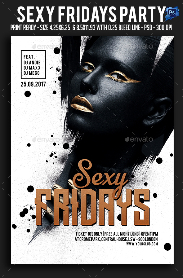 Sexy Fridays Party Flyer - Clubs & Parties Events