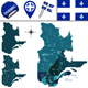 Regions of Quebec, Canada - GraphicRiver Item for Sale