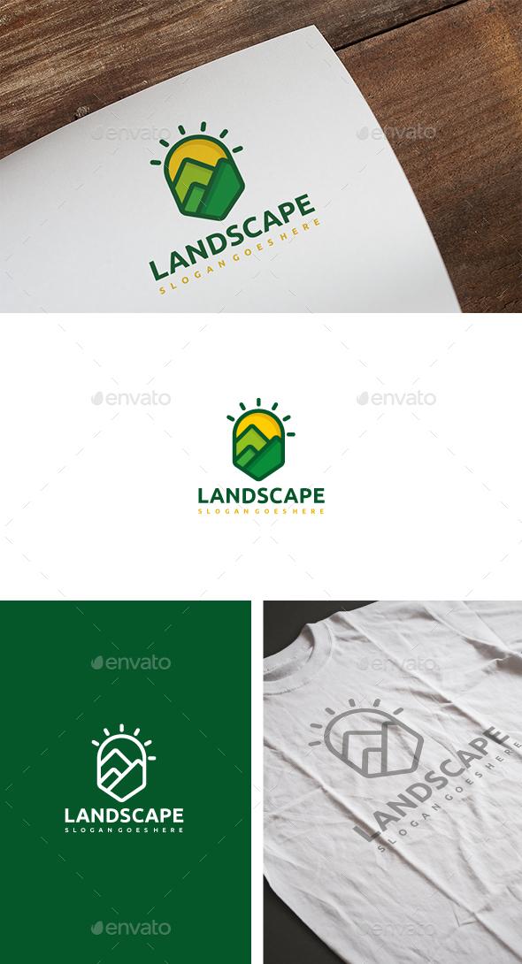 Mountains Landscape Logo - Nature Logo Templates