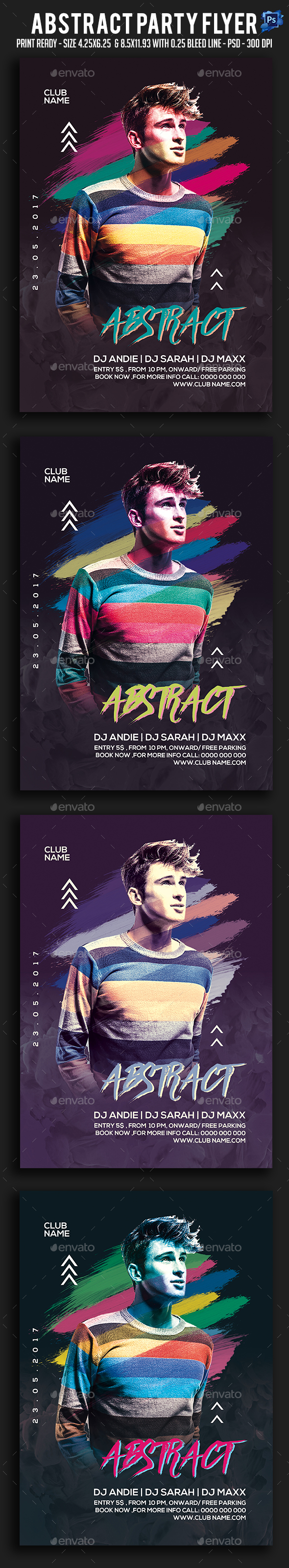 Abstract Party Flyer - Clubs & Parties Events
