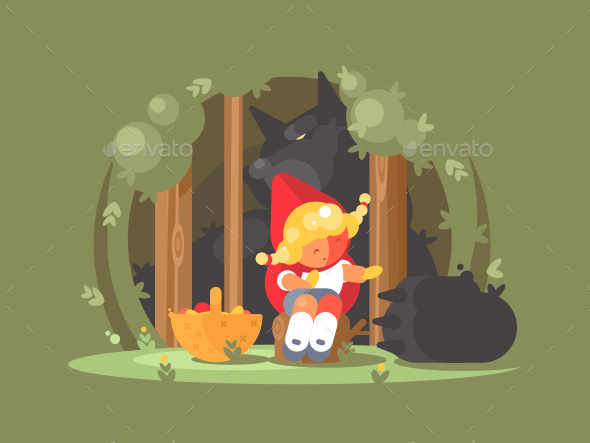 Little Red Riding Hood - Characters Vectors
