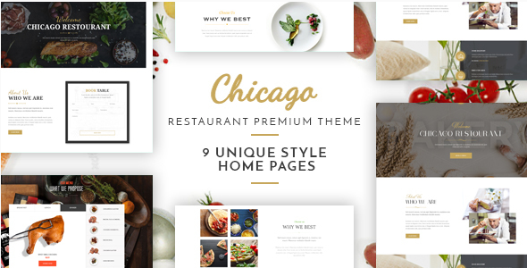 Chicago - Complete Multi-Purpose Restaurant Theme - Restaurants & Cafes Entertainment