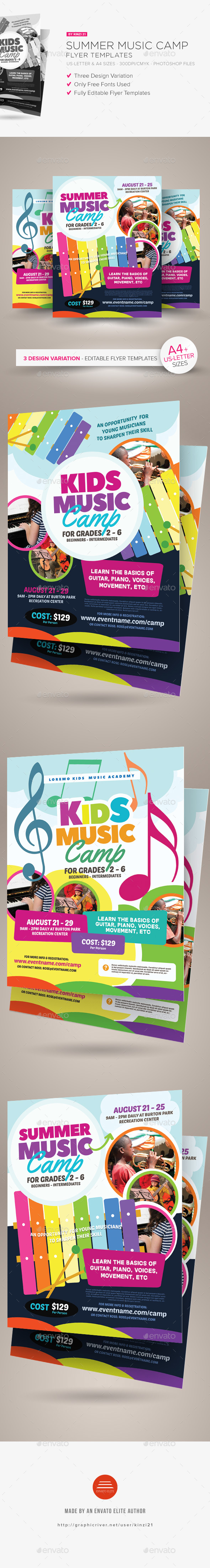 Summer Music Camp Flyer Templates - Miscellaneous Events