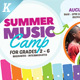 Summer Music Camp Flyer Templates - GraphicRiver Item for Sale