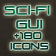 Sci-Fi UI + 180 Game Icons