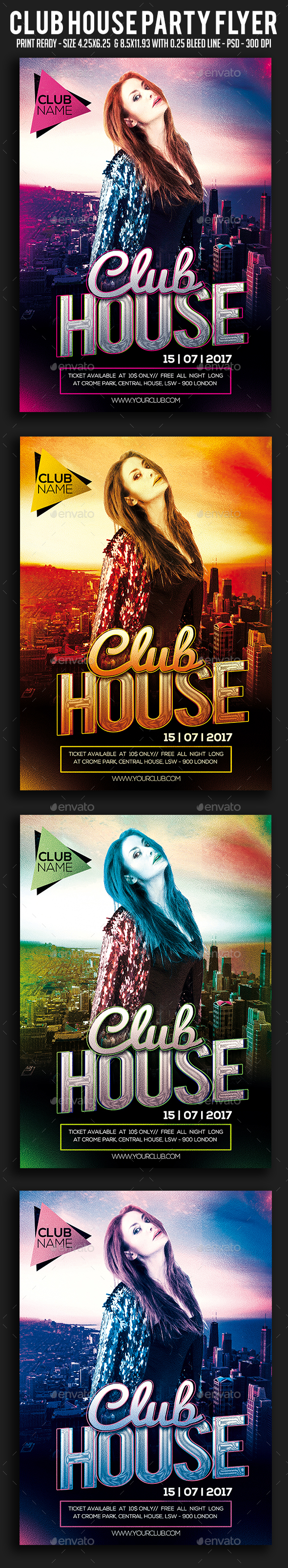 Club House Party Flyer - Clubs & Parties Events
