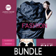 3 Fashion Poster Flyer Postcard Bundle