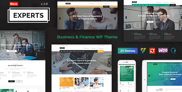 Experts Business - Professional Theme for Finance Firms
