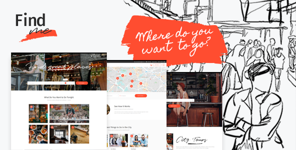 FindMe - An Urban and Vibrant Directory Theme - Directory & Listings Corporate