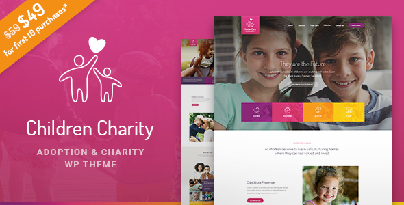 Children Charity - Nonprofit & NGO WordPress Theme with Donations - Charity Nonprofit