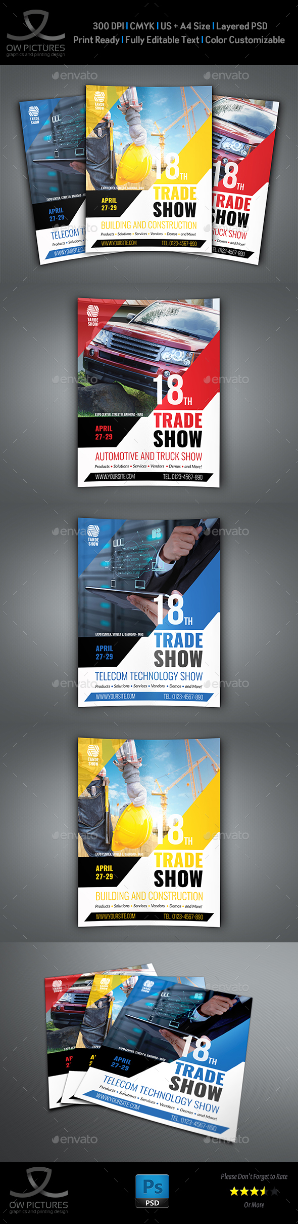 Trade Show Flyer Template - Flyers Print Templates