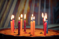 Birthday cake with burning candles - PhotoDune Item for Sale