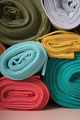 Rolls of knitted fabric in assortment - PhotoDune Item for Sale