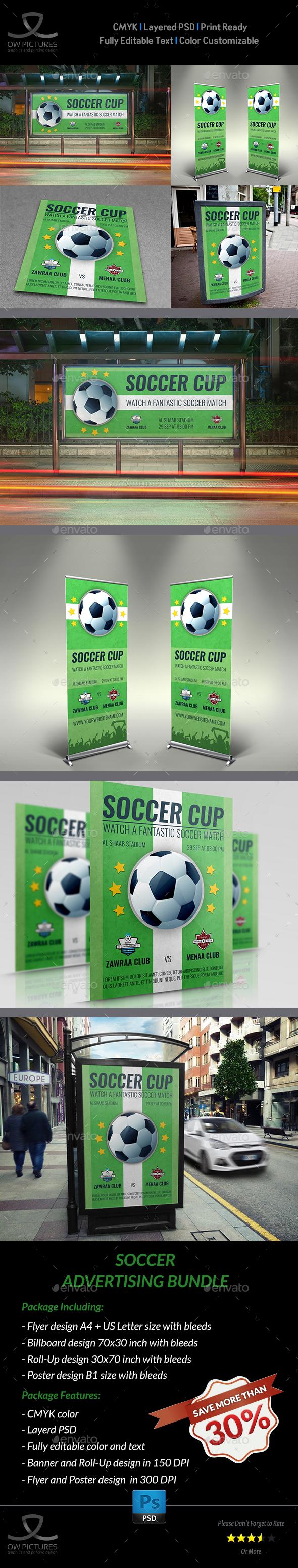 Soccer Advertising Bundle - Signage Print Templates