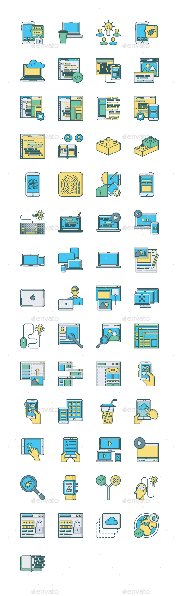 57 Web & Mobile Development Icons - Technology Icons