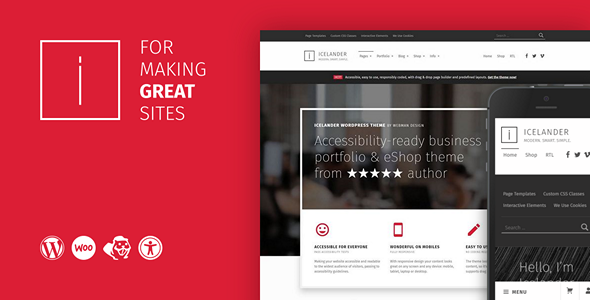 Icelander - Accessible Business Portfolio & WooCommerce WordPress Theme - Portfolio Creative