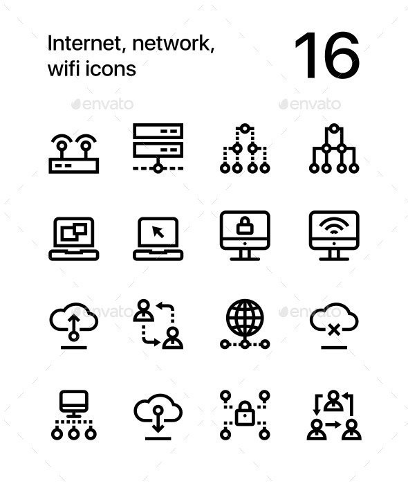 Internet, Network, Wifi Icons for Web and Mobile Design Pack 2 - Technology Icons