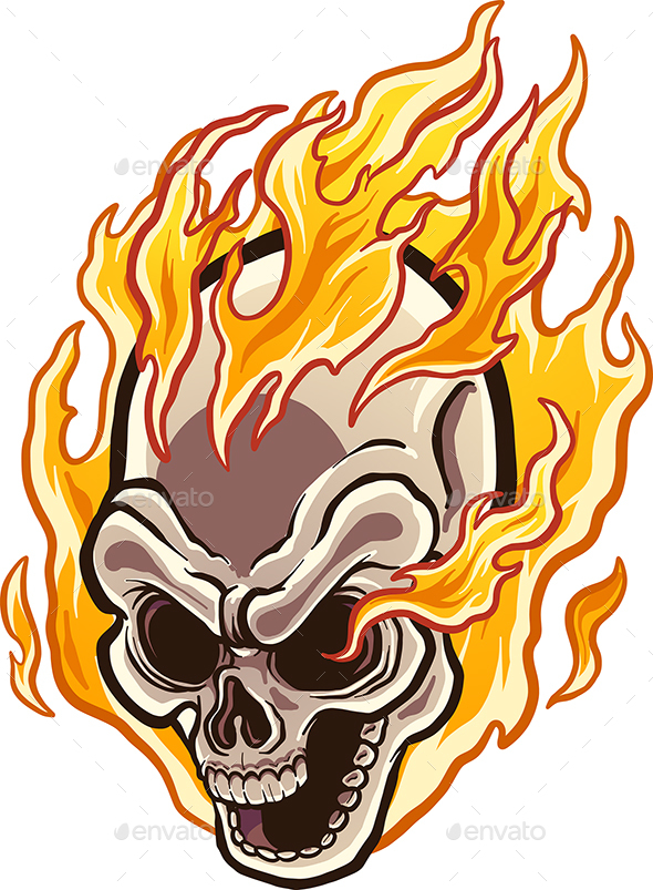 Flaming Skull - Monsters Characters