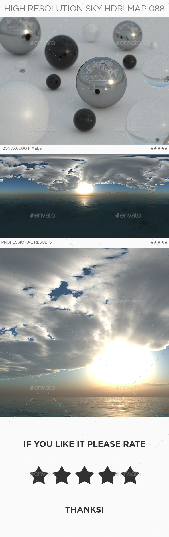 High Resolution Sky HDRi Map 088 - 3DOcean Item for Sale