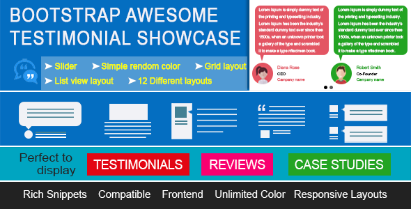 Bootstrap Awesome Testimonials Theme Showcase