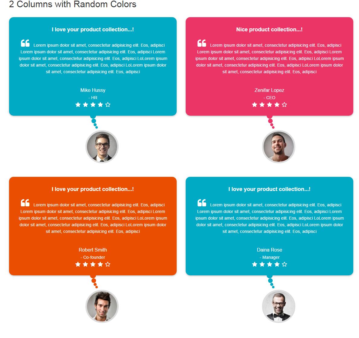 Bootstrap Testimonials Showcase - 10