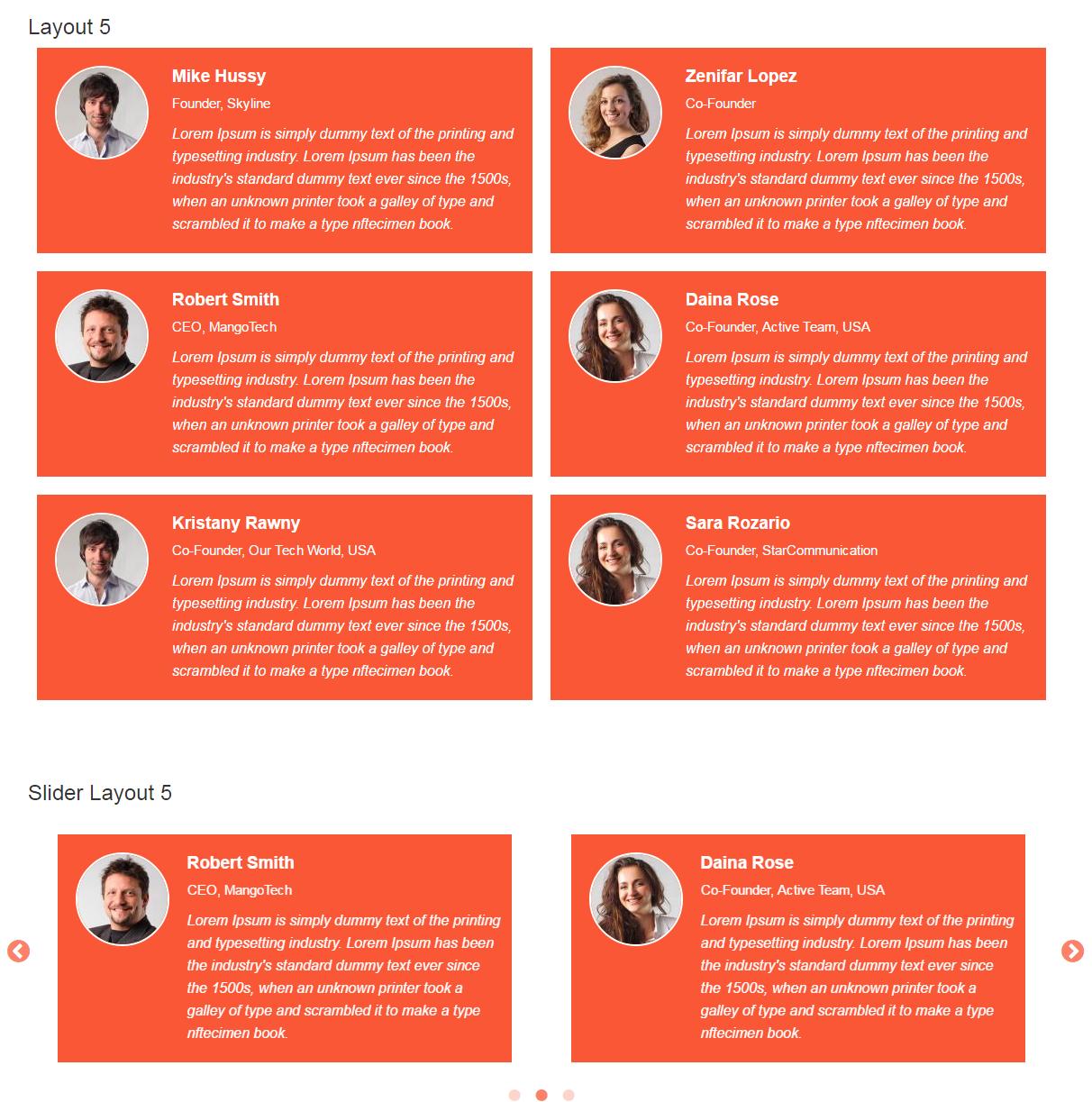 Bootstrap Testimonials Showcase - 5