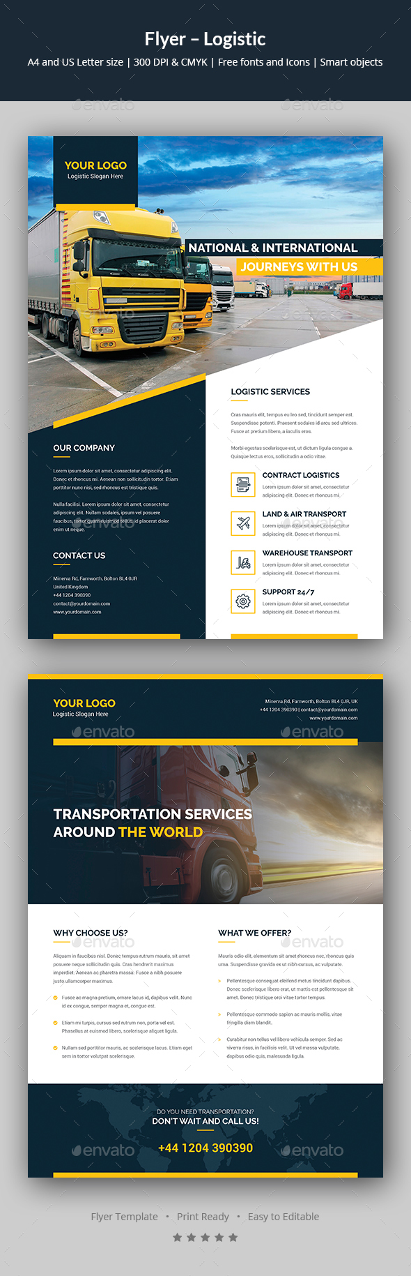 Flyer – Logistic - Corporate Flyers