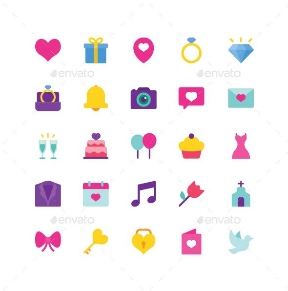 Wedding Flat Icons - Icons