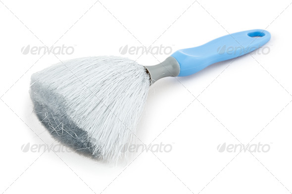 Dust brush isolated - Stock Photo - Images