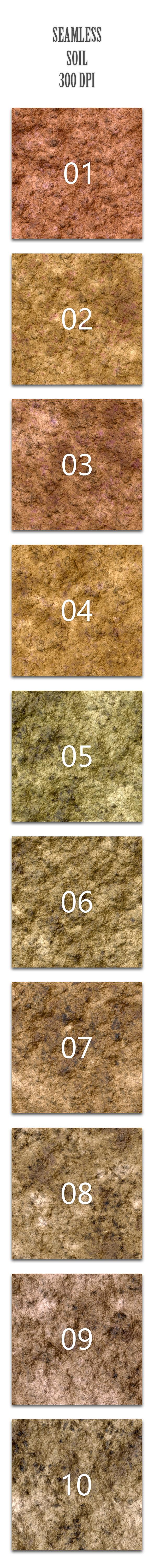 Seamless Soil - Nature Textures / Fills / Patterns