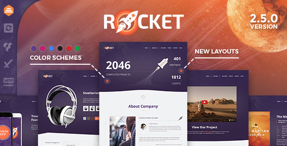 Rocket - Creative Multipurpose WordPress Theme - Creative WordPress