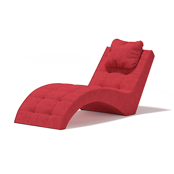 Red Lounge Chair - 3DOcean Item for Sale