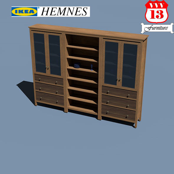 Storage combination w doors/drawers - 3DOcean Item for Sale