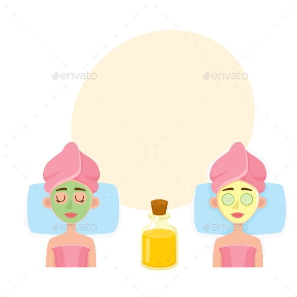 Young Woman Having Facial Mask Applied - People Characters