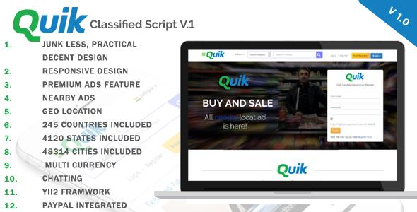 Quik - Premium Classified Ads Script