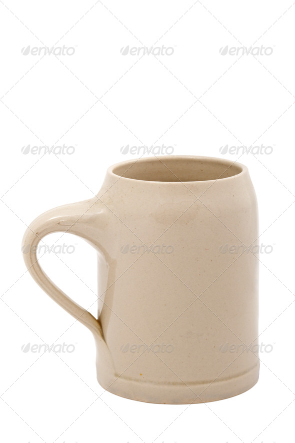 Beer cup (Bierkrug) isolated - Stock Photo - Images