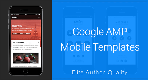 Google AMP Mobile Templates