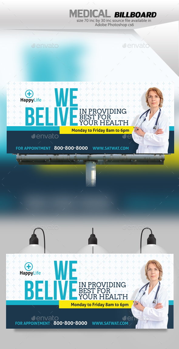 Medical Billboard - Signage Print Templates
