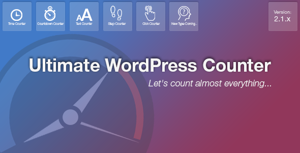 Ultimate WordPress Counter Plugin - CodeCanyon Item for Sale