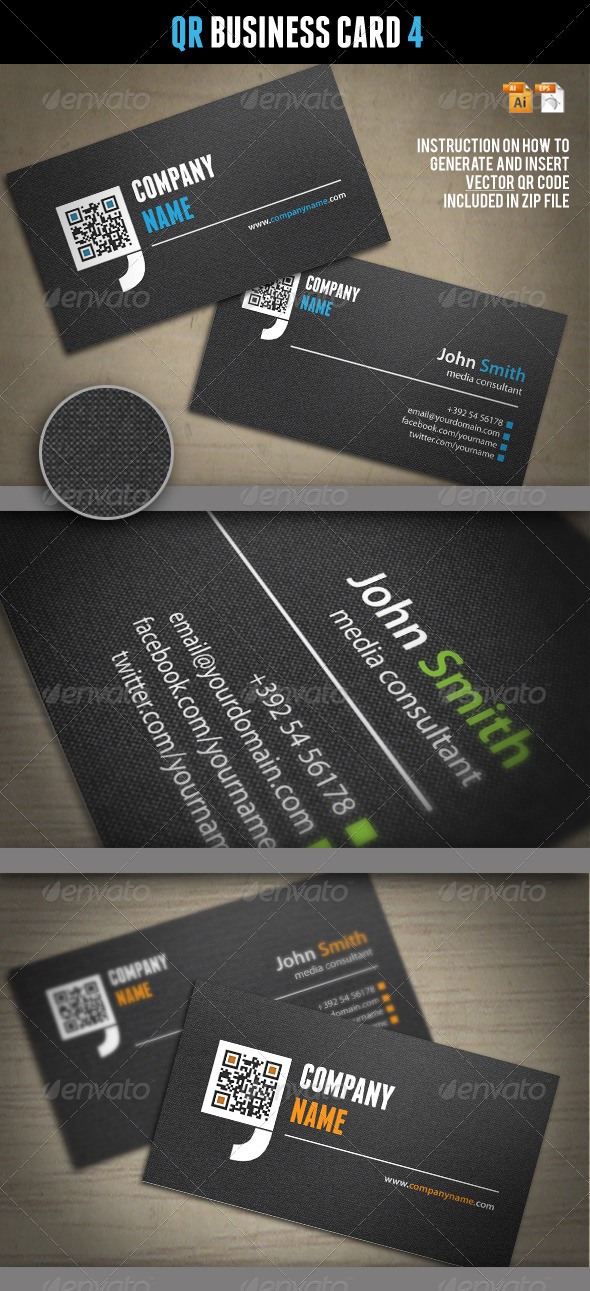 QR Business Card 4 - Corporate Business Cards