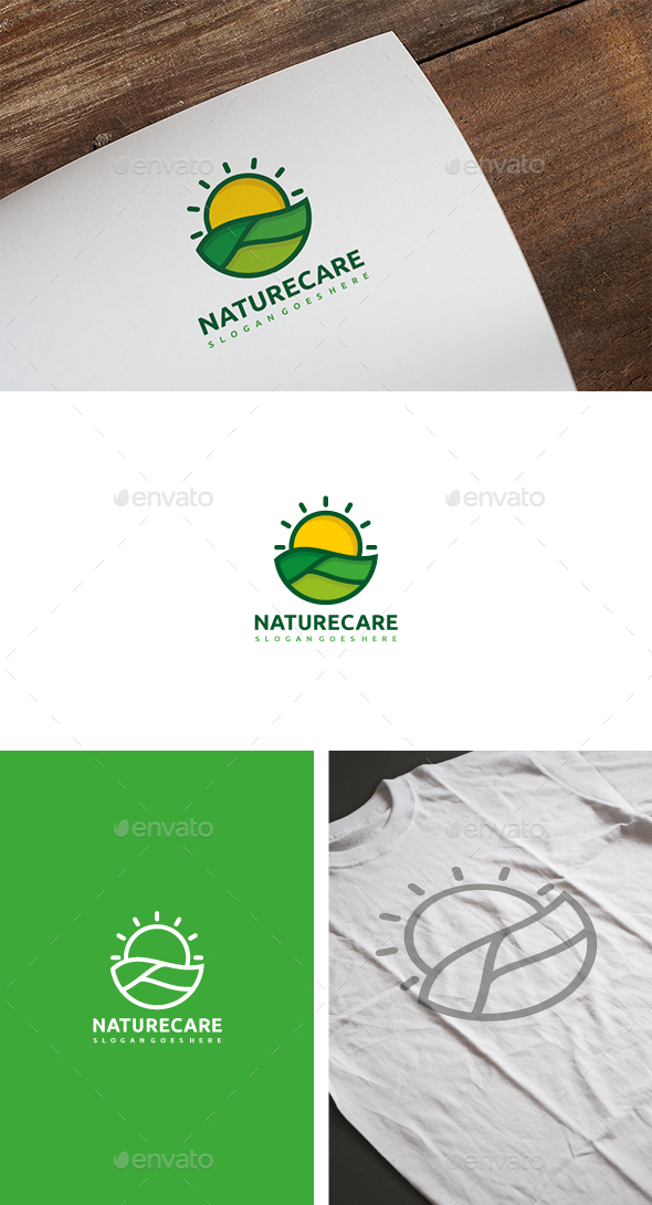 Nature Care Logo - Nature Logo Templates