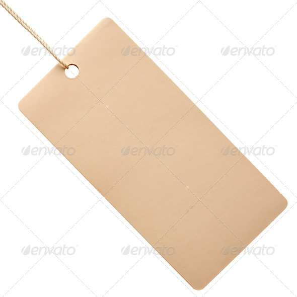 White paper tag isolated - Stock Photo - Images