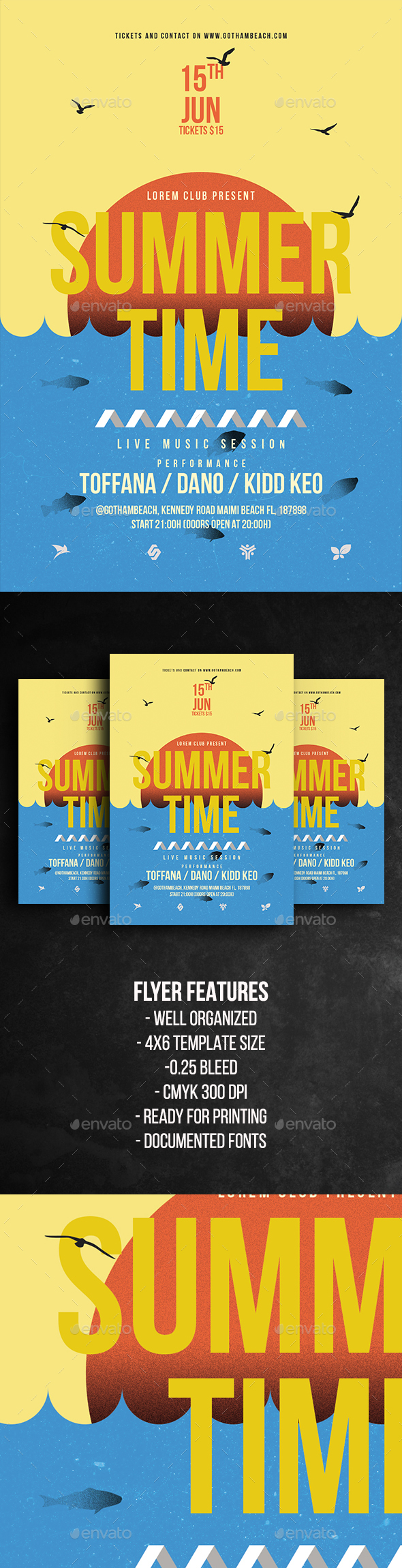 Summer Time Party Flyer Template - Holidays Events