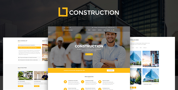 Construction - Business & Building Company WordPress Theme - Business Corporate