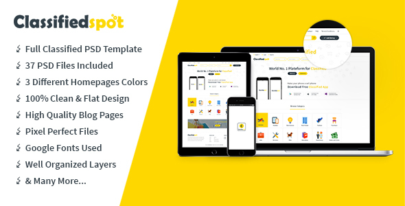 Classifiedspo't PSD Template