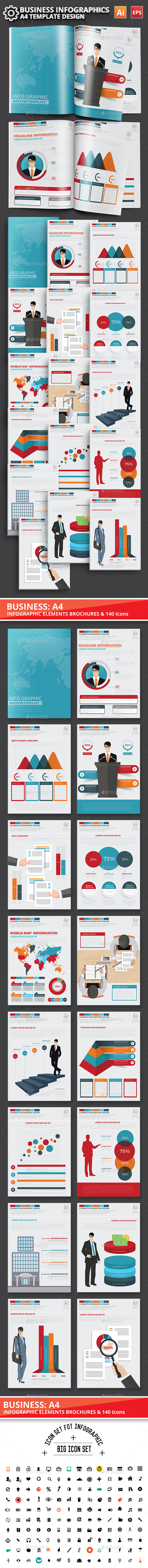 Business Infographics Elements Design - Infographics