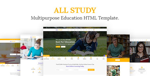 All Study- Multipurpose Education HTML Template - Corporate Site Templates